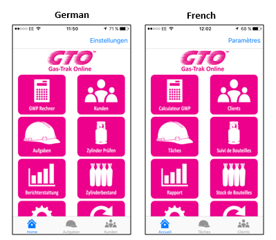 German and French app